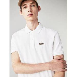 Lacoste x National Geographic Leopard Croc Polo - White, White, Size M, Men