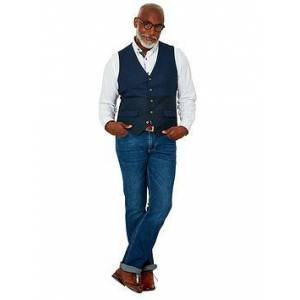 Joe Browns Confidently Cool Waistcoat, Blue, Size 48, Men
