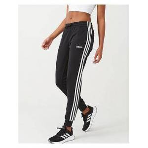 adidas Essential 3 Stripe Pant - Black/White, Black, Size L, Women