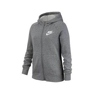Nike NSW Girls Full Zip Hoodie - Grey/White, Grey/White, Size Xs=6-8 Years, Women