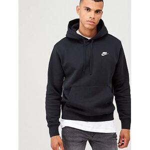 Nike Sportswear Club Fleece Overhead Hoodie - Black, Black, Size M, Men