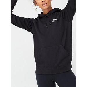 Nike NSW Essential Pullover Hoodie - Black, Black, Size L, Women
