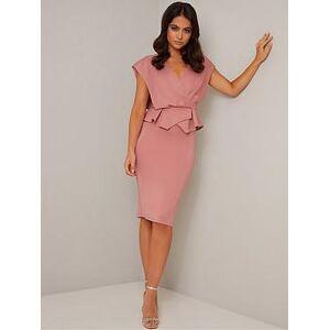 Chi Chi London Petite Saffie Dress - Mink, Mink, Size 4, Women