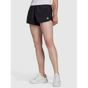 adidas Originals 3 Stripe Short - Black , Black, Size 22, Women