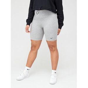 Nike NSW Leg-A-See Bike Short - Grey, Dark Grey Heather, Size 22-24=2X, Women