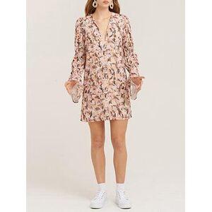 Vestire Animal Instinct Shift Dress - Cream/Pink