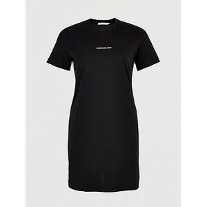 Calvin Klein Jeans Plus Mesh Tape T-Shirt Dress - Black, Black, Size 2Xl, Women