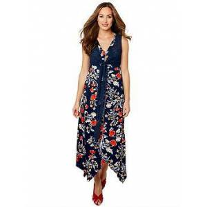 Joe Browns Funky Free Dress - Navy, Navy Multi, Size 8, Women