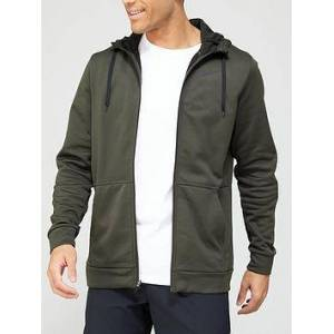 Nike Training Therma Full Zip Hoodie - Khaki, Khaki, Size M, Men