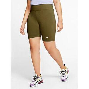 Nike NSW Leg-A-See Bike Shorts (Curve) - Olive , Olive, Size 22-24=2X, Women