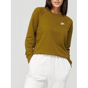 Nike NSW Essentials Sweat - Olive, Olive, Size Xs, Women