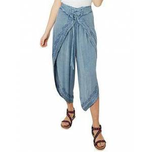Joe Browns Exquisite Embroidered Trousers - Light Blue, Light Blue, Size L/Xl, Women