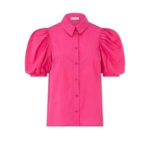 Monsoon Harley Plain Cotton Shirt - Pink, Pink, Size 18, Women