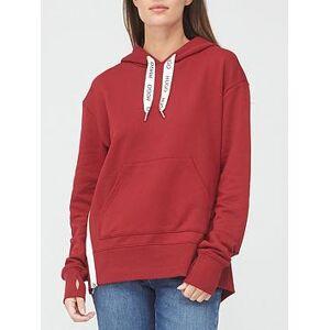 HUGO Dreali Side Stripe Hoodie - Red, Red, Size L, Women