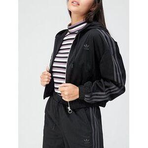 adidas Originals Comfy Cords Track Top - Black , Black, Size 14, Women