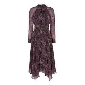 WHISTLES Snake Print Carlotta Dress - Pink, Pink, Size 6, Women