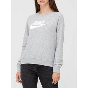 Nike NSW Essential Sweatshirt - Dark Grey Heather , Dark Grey Heather, Size Xl, Women
