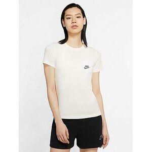 Nike NSW Icon Clash T-Shirt - Ivory , Ivory, Size M, Women
