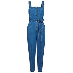 Monsoon Denim Plain Jumpsuit - Blue, Denim Blue, Size 14, Women