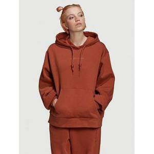 adidas Originals Oversized Hoodie - Brown, Brown, Size 16, Women