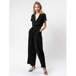 Religion Glamour Boilersuit - Black, Black, Size 18, Women