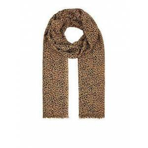 Accessorize Ditsy Leopard Print Scarf - Brown, Brown, Women