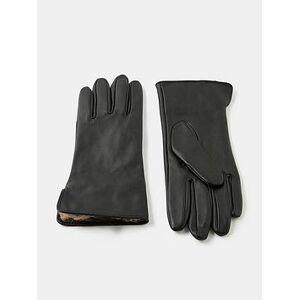 Accessorize Leopard Faux Fur Lined Gloves, Brown, Size S-M, Women