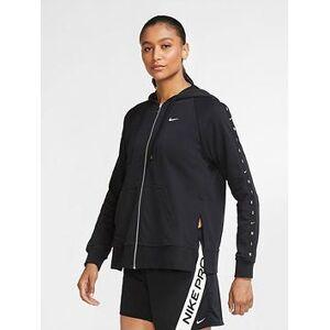 Nike Training Get Fit Full Zip Fleece - Black , Black, Size S, Women