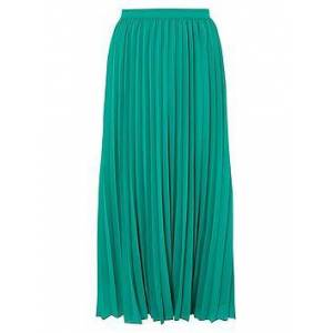 Monsoon Meryl Recycled Polyester Pleated Skirt - Green, Green, Size L, Women