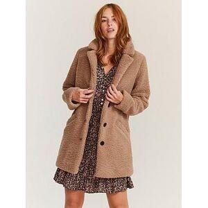 FatFace Caroline Teddy Coat - Mink, Mink, Size 22, Women