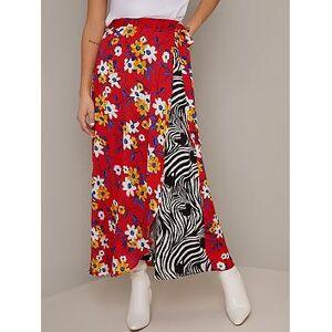 Chi Chi London Rita Midaxi Skirt - Multi, Multi, Size L, Women