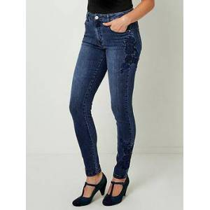 Joe Browns Embroidered Jeans - Indigo, Indigo, Size 8, Women