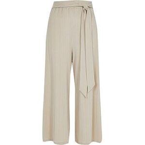 River Island Jersey Rib Wide Leg Trouser Co-ord - Beige, Beige, Size 18, Women