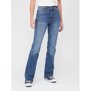 V by Very Forever Relaxed Bootcut Jean - Mid Wash, Mid Wash, Size 20, Women