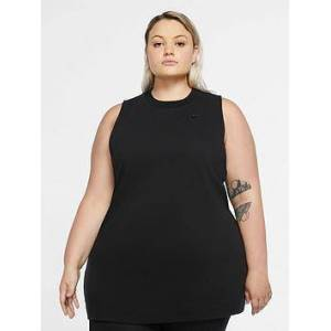 Nike NSW Tunic Top (Curve) - Black , Black, Size 22-24=2X, Women