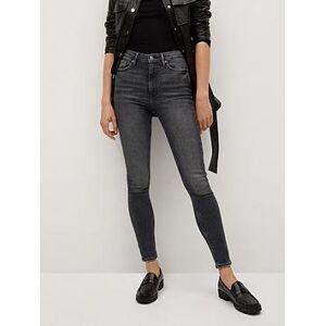 Mango Washed Skinny Jeans - Grey, Grey, Size 6, Women
