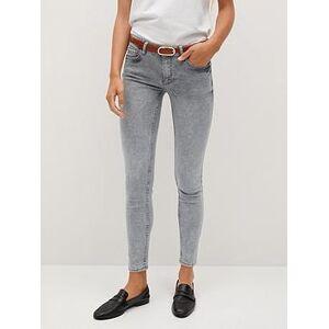 Mango Kim Skinny Jeans - Grey, Grey, Size 6, Women