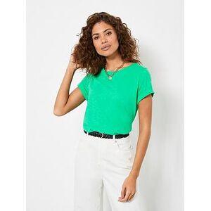 Mint Velvet Cotton Star T-Shirt - Green, Green, Size L, Women