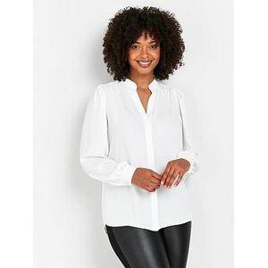 Wallis Plain Airflow Shirt - Ivory, Ivory, Size 18, Women