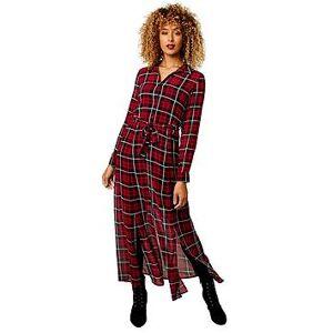 Joe Browns Chiffon Check Dress - Black/Red, Black/Red, Size 14, Women