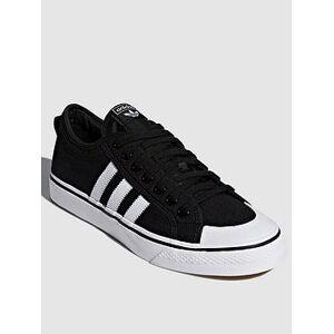 adidas Originals Nizza - Black/White , Black/White, Size 10.5, Women