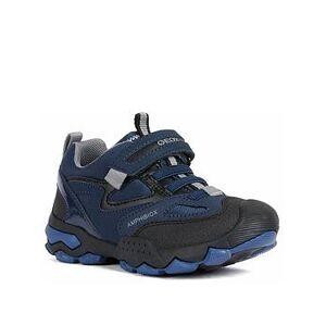 Geox Boys Buller Boot - Navy Grey, Navy/Grey, Size 1.5 Older