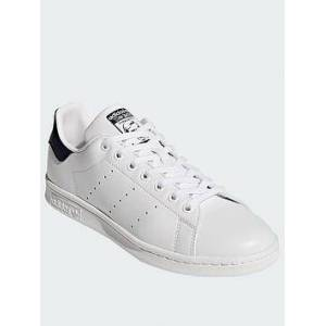 adidas Originals Stan Smith Trainers - White/Navy, White/Navy, Size 10.5, Women