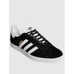 adidas Originals Gazelle - Black/White , Black/White, Size 4.5, Women