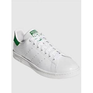 adidas Originals Stan Smith - White/Green , White/Green, Size 5, Women