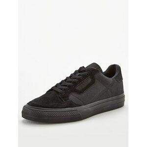 adidas Originals Continental Vulc Canvas - Black, Black, Size 8, Men