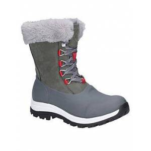 Muck Boots Après Lace Mid Arctic Grip Welly Boots - Grey, Grey, Size 7, Women