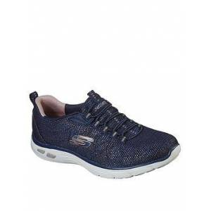 Skechers Empire D'Lux Charming Grace Trainers - Navy/Multi, Navy Rose Gold, Size 4, Women