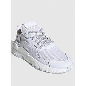 adidas Originals Nite Jogger - White, White, Size 5, Women