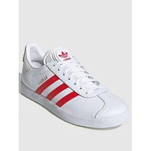 adidas Originals Gazelle - White/Red , White/Red, Size 7, Women